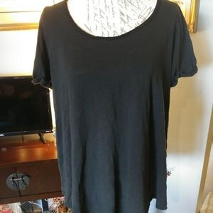 Torrid black super soft shirt with tie in the back